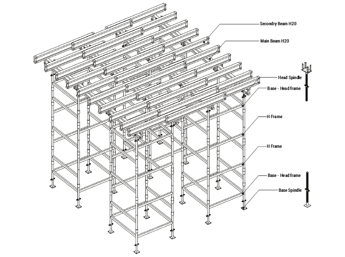 Tower Type (Sleeve) Formwork Scaffold